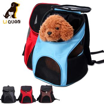 Oddychający plecak dla zwierząt domowych pies kot odkryty transporter dla zwierząt Packbag przenośny zamek siatkowy plecak dla zwierząt domowych plecak dla zwierząt domowych tanie i dobre opinie GJDFSYA CN (pochodzenie) zipper NYLON cats