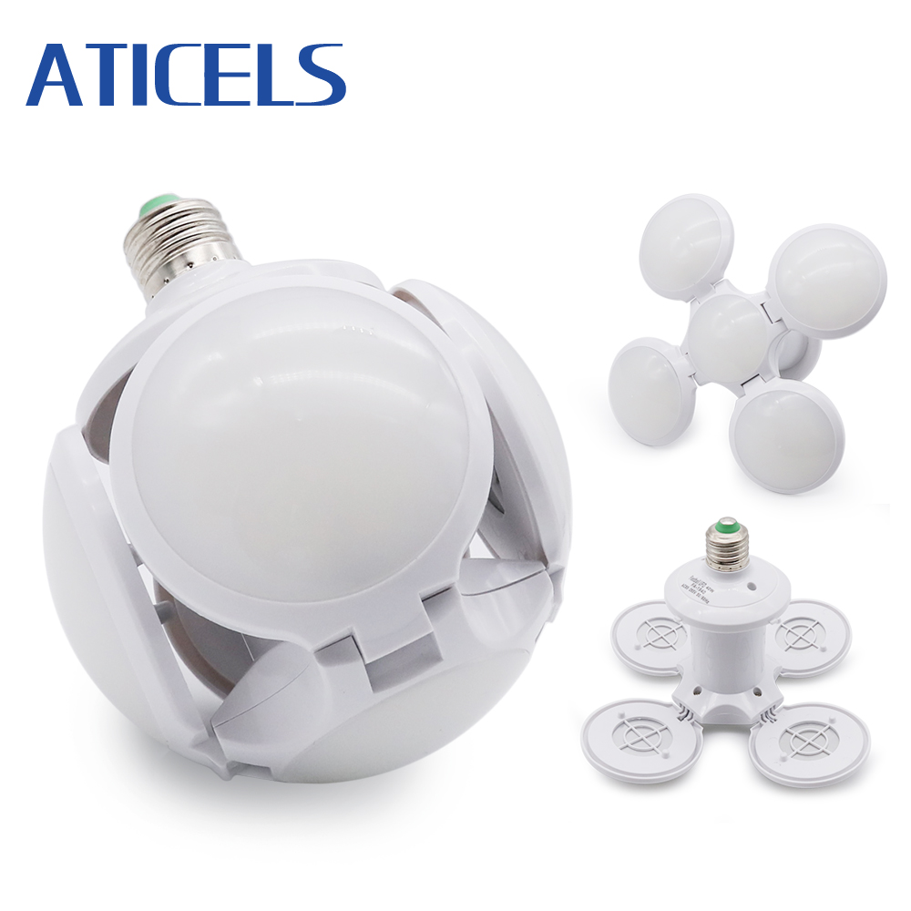 AC 85-265V LED Folding Bulb E27 40W Football Shape UFO Lamp Super Bright LED Bulb White 6500K