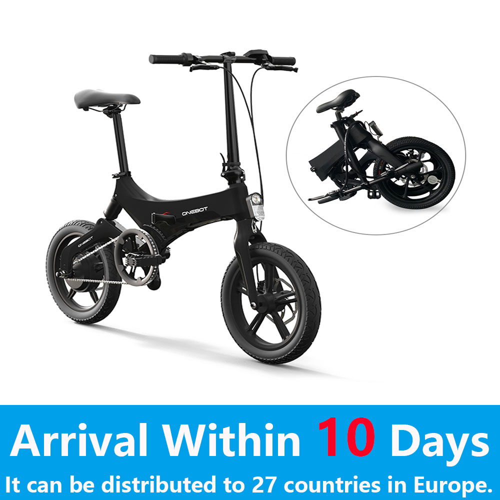 16 Inch Folding Electric Bicycle Power Assist Moped Mountain Ebike E-Bike 250W Motor and Dual Disc Brakes Folding Cycle E Bike