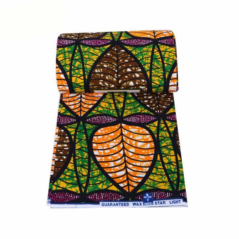 2019 Newest Fashion Design African 100% Cotton Leaf Print Veritable Ankara Guarantee Real Dutch Wax