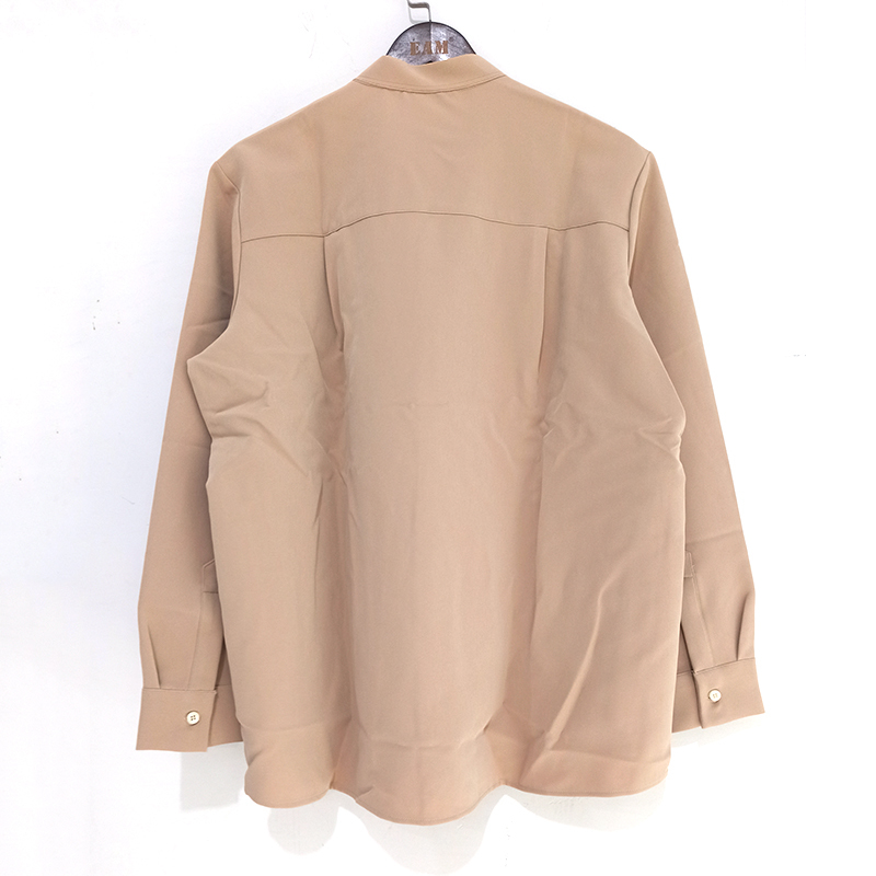 He99daa842a4343f78ac828f458187852I IEFB /men's wear 2020 autumn casual stand collar solid color shirt for male Personality Trend Handsome Long Sleeve s 9Y899