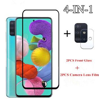 Перейти на Алиэкспресс и купить 2pcs для Samsung Galaxy A51 стекла для Samsung Galaxy A11 A21 A31 A41 A71 Экрана M31 M21 закаленного стекла протектор камера Len пленка