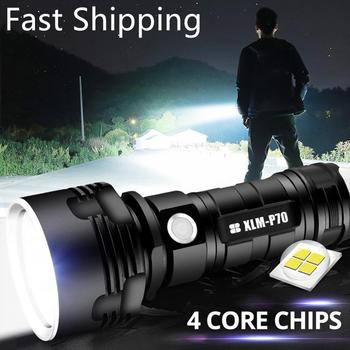 powerful l2 led flashlight lanterna flash lamp long range super bright torch zoomable focus for outdoor fishing hunting camping Flashlight  L2 P70 Super Powerful LED Tactical Torch USB Rechargeable Waterproof Lamp Ultra Bright Camping