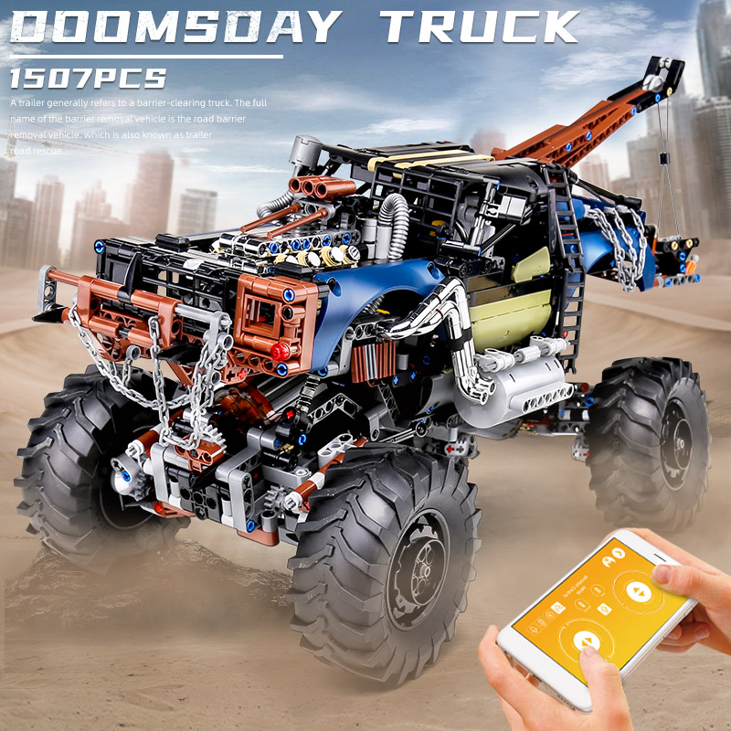 MOULD KING 18006 APP High-Tech Car Toys The MOC-35305 RC Motorized Rebel Tow Truck Building Blocks