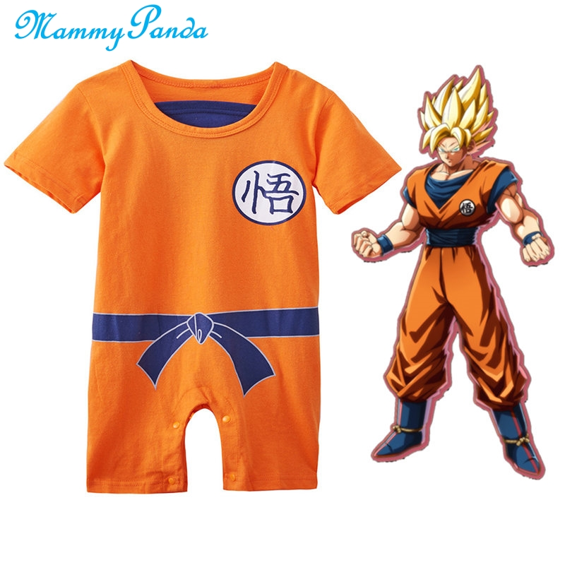 Dragon Ball Baby Boys Rompers Newborn Baby Clothes SON GOKU Piccolo Toddler Jumpsuit Bebes Halloween Costumes For Children