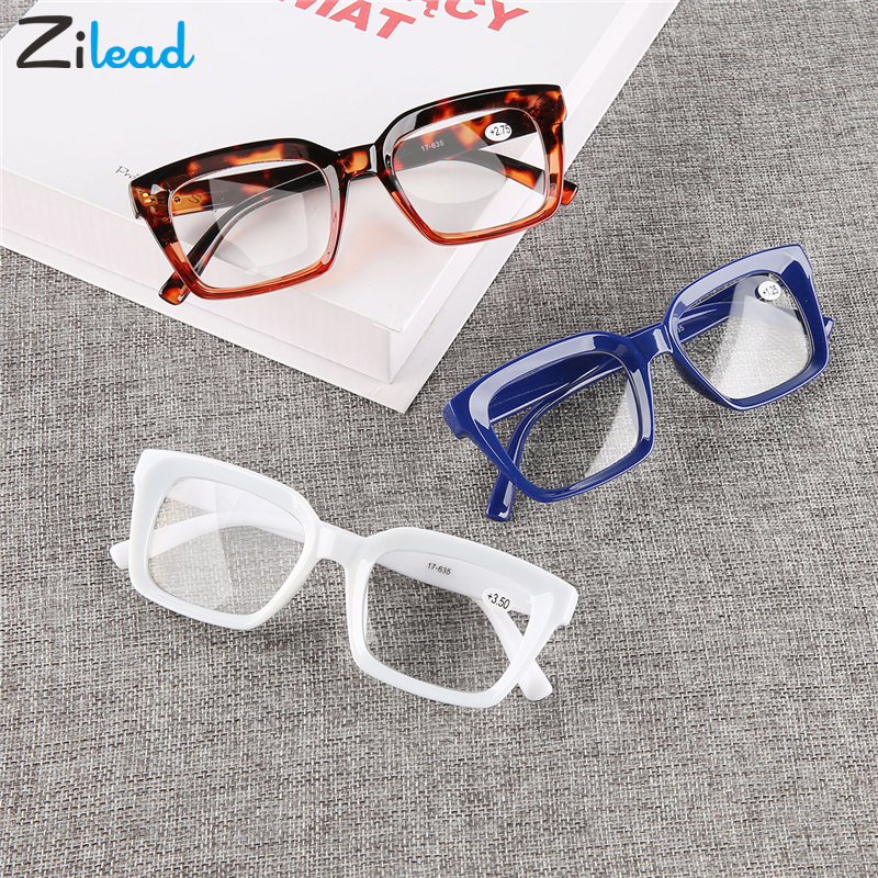 Zilead Ultralight Computer  Fashion Comfortable Resin Cute Reading Glasses Classical Presbyopia Ultralight Women Men Glasses