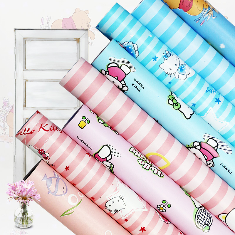 New Children's Room Pvc Wall Sticker Cartoon Self-adhesive Furniture Table Sticker Waterproof Mold Proof Home Wall Decor