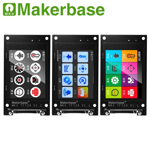 Éléments dimpression 3d MKS TFT24 écran tactile v1.1 RepRap panneau de contrôleur affichage couleur SainSmart écran déclaboussure module lcd