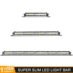 "DERI 7"" 13"" 60W 120W LED LIGHT BAR flood beam Ultra Slim Flood light Car barra led For Off Road UTV ATV SUV 12V 24V work lights(China)"