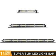 """DERI 7 """"13"""" 60W 120W listwa świetlna LED flood beam Ultra cienki światło halogenowe samochód barra led dla Off Road UTV ATV SUV 12V 24V światła robocze"""