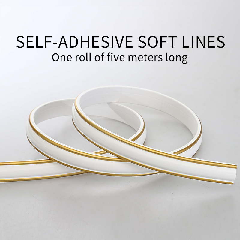 Pvc Decorative Soft Line Mirror Border Edge Line Gypsum Line Ceiling Line Background Wallpaper Self-adhesive Strip