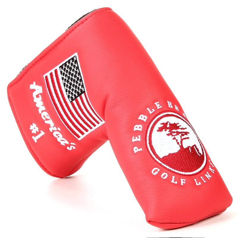 Купить с кэшбэком New Spider with Silver Web Golf Putter Cover Headcover for Blade Golf Putter Red White Black Head Cover