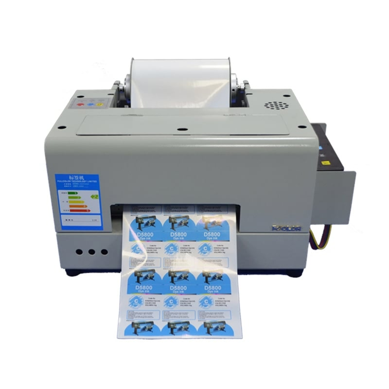 Color Label Printer Roll To Roll A4 Size Adhesive Label Printer Desktop Small Size Shipping Label Maker Machine