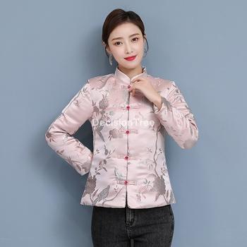 2021 vintage szyfonowa kurtka kobiety płaszcz chiński styl odzież top cheongsam qipao topy tradycyjna chińska odzież dla kobiet tanie i dobre opinie DecisionTree COTTON Linen CN (pochodzenie) WOMEN Suknem