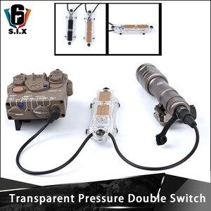 Novedad, botón de interruptor doble de presión PEQ transparente Airsoft para PEQ15 16A DBAL 2 Fit 20mm, rieles Picatinny, interruptor de luz