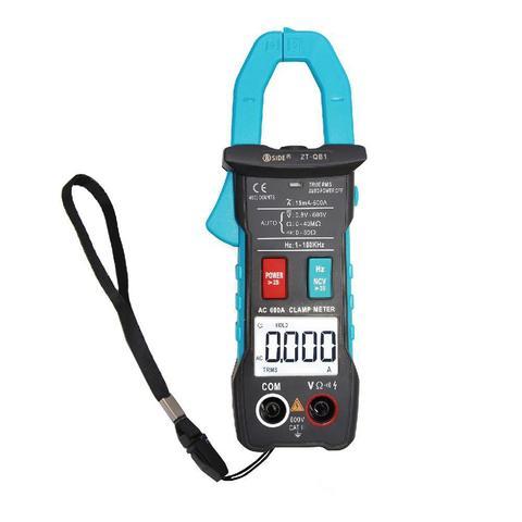 Esperto da Braçadeira Amperímetro da Tensão ca da C.c. Medidor Bside Corrente Trms Auto-rang hz Ohm Ncv Tester Dmm Multímetro Zt-qb1 600a Mod. 330771