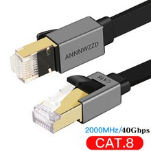 Cat8 Ethernet Cable 40Gbps RJ45 Network Cable High Speed Gigabit SFTP Lan Cat 8 RJ 45 Ethernet Cable for PS4 Router Laptop Cable