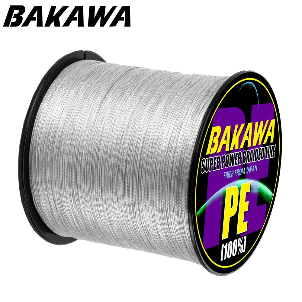 BAKAWA NEW Fishing Line 8 Strands 4 Strands PE Braided 300m 500m 1000m Multifilament Fishing Line Rope peche carpe Wire 22-120LB
