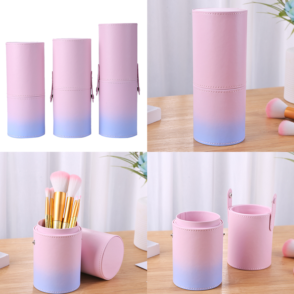 Travel Makeup Brushes Kit Pen Holder Storage Kit PU Leather Empty Holder Cosmetic Pen Bag Brush Organizer Make Up Tools