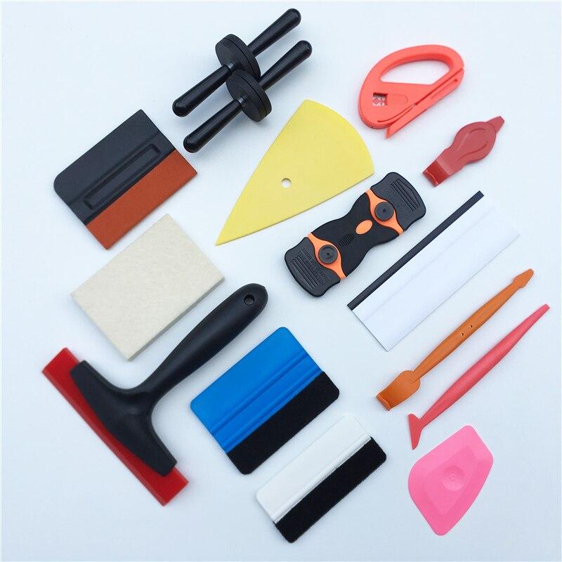 17 PCS/Set Car Vinyl Wrap Tools Kit Window Tint Auto Wrapping Squeegee Rubber Scraper Magnet Holder Glass Film Building Office|Scraper|   - AliExpress