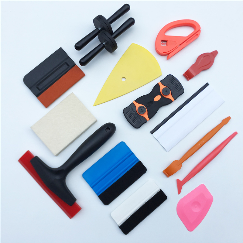 Car Wrap Tools Set Rubber Squeegee Scraper Sticker Window Film Tint Glass Film Application Vinyl Wrapping Tools Kit