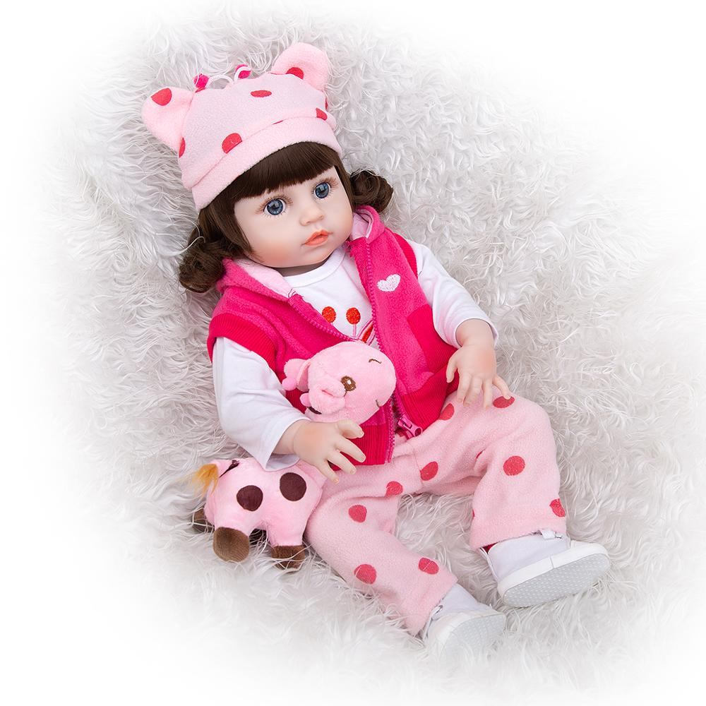 49 cm Silicone Full Body Reborn Baby Dolls Fashion Realistic Waterproof Baby Dolls Soft Touch Toddler