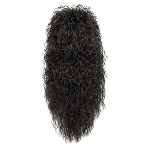 Image 2 - Gres Wig Black Long Curly Wig Male Synthetic Cosplay Wigs Puffy High Temperature Fiber for Men