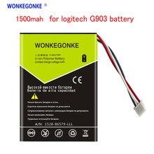 WONKEGONKE 1500mah para Logitech G903 G400 G403 G900 G703 Bateria Do Mouse