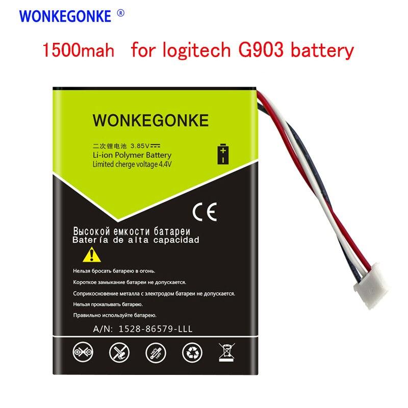 WONKEGONKE 1500mah  For Logitech G903 Battery