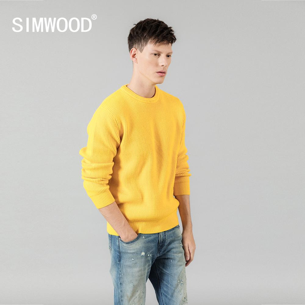 SIMWOOD 2019 Autumn Winter Warm Sweater Men Casual Special Neck Design Knitwear  Pullovers High Quality Brand Clothing SI980567
