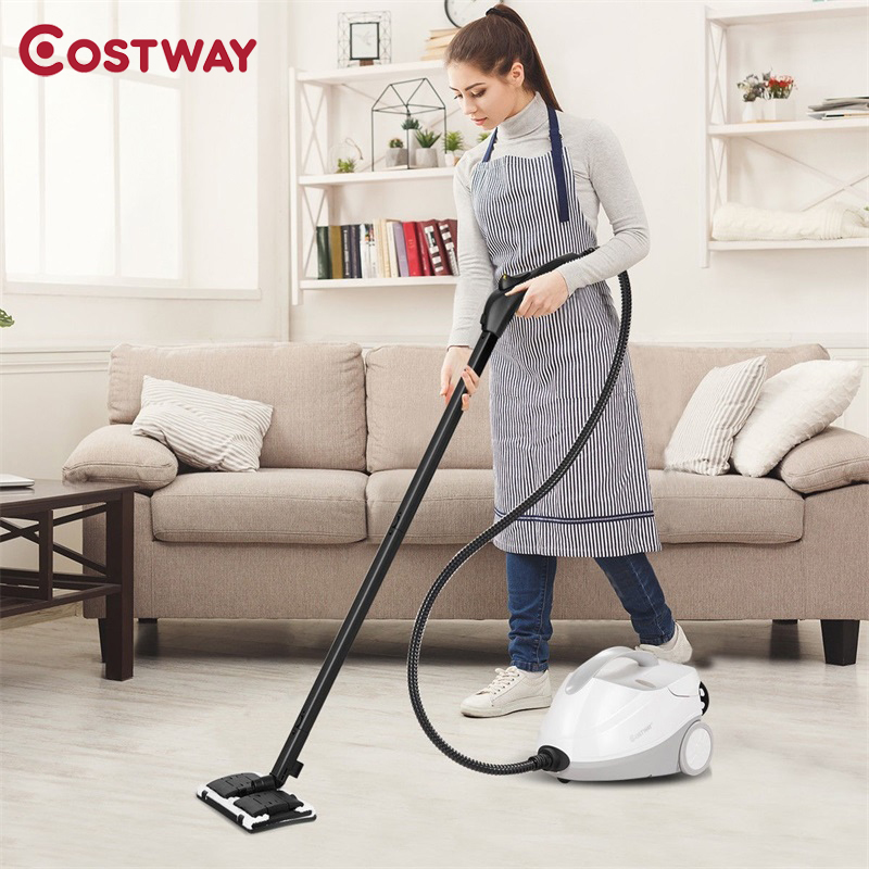 Costway High Quality 2000W 1.5L Steam Cleaner Mop Multi-Purpose Variable Steam Control Steam Cleaning Machine EP23673US