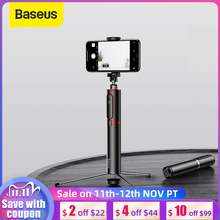 Treppiede per fotocamera portatile per smartphone portatile Baseus Bluetooth Selfie Stick con telecomando Wireless per iPhone Samsung Huawei Android