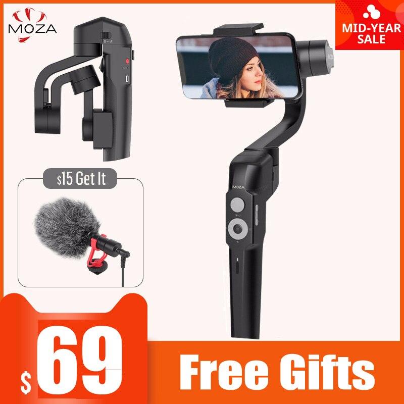 NEW MOZA MINI-S 3-Axis Foldable Pocket-Sized Handheld Gimbal Stabilizer MINI S For IPhone X Smartphone GoPro VS MINI MI VIMBLE 2