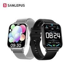 Sanlepus 2021 novo relógio inteligente monitor de freqüência cardíaca esportiva pulseira de fitness à prova d água homens mulheres smartwatch para android apple xiaomi