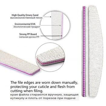 10Pcs Per Box Professional Nail File Kit Manicure Pedicure Nail Buffer Sandpaper Washable Nail Care Art Tool 80 100 150 180 240 6