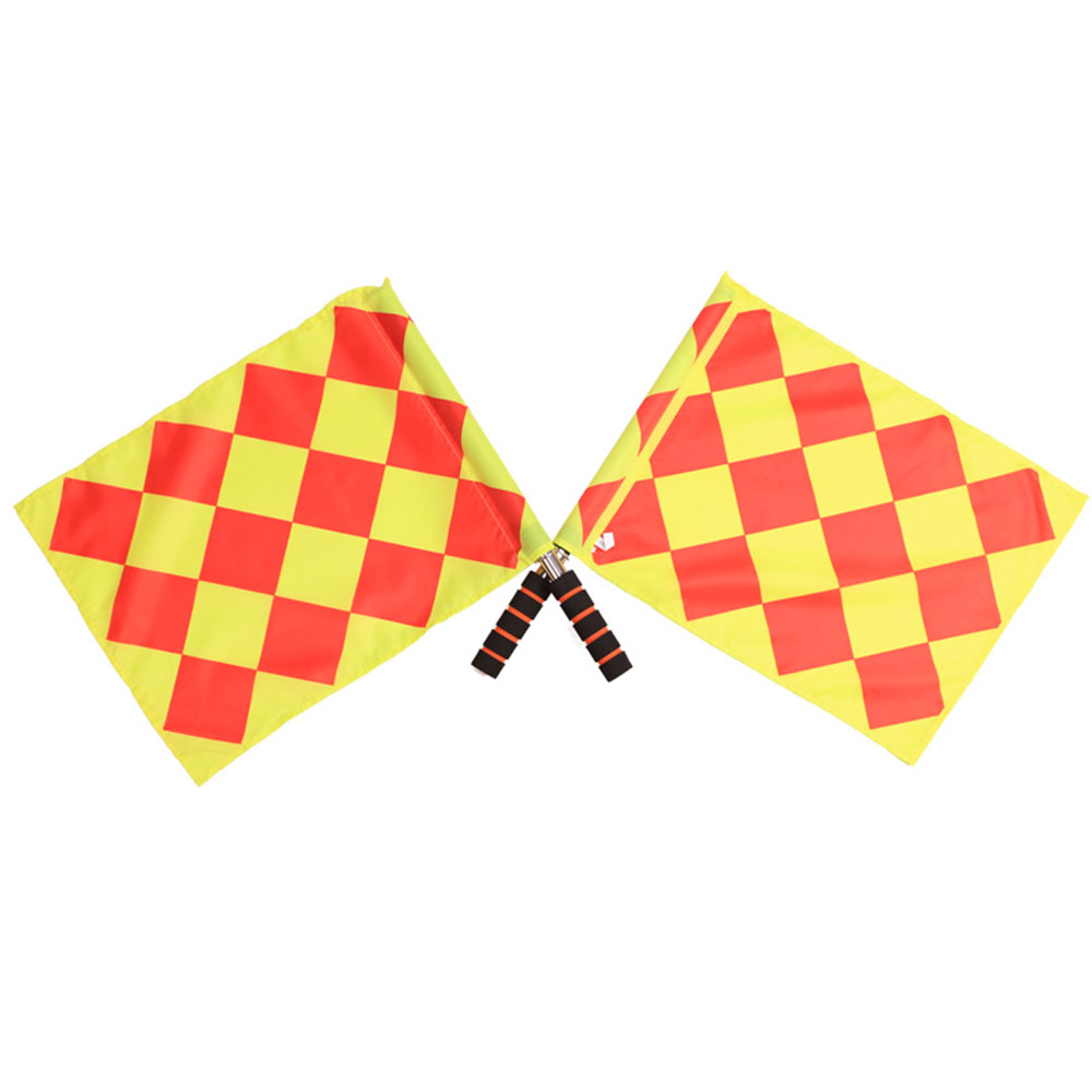 1pcs Track Field Flag Soccer Referee Flag Match Linesman Football Cloth Football Bunting Flag Referee Accessories