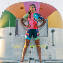 Women Triathlon Cycling Jerseys bib Set Summer clothing Short Sleeve Clothes Bicycle Ropa Ciclismo Shorts gel pad
