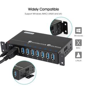 Image 3 - Sipolar 産業 usb 3.0 充電ハブ 7 ポート 12 5v の usb 充電器ハブアルミと 12 v 3A 電源アダプタ led インジケータブラケット
