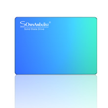 Cor gradiente azul ciano 60g 120g 240g 480g 2t disco rígido de estado sólido desktop sata notebook ssd