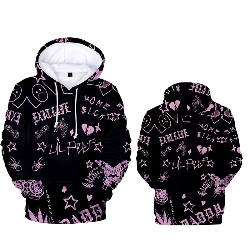 2020 New Lil peep 3d Hooded Sweatshirt Casual Loose Men's Printed Hoodies Hoodie Long Sleeves Popular Hip Hop Coat Male XXS-4XL