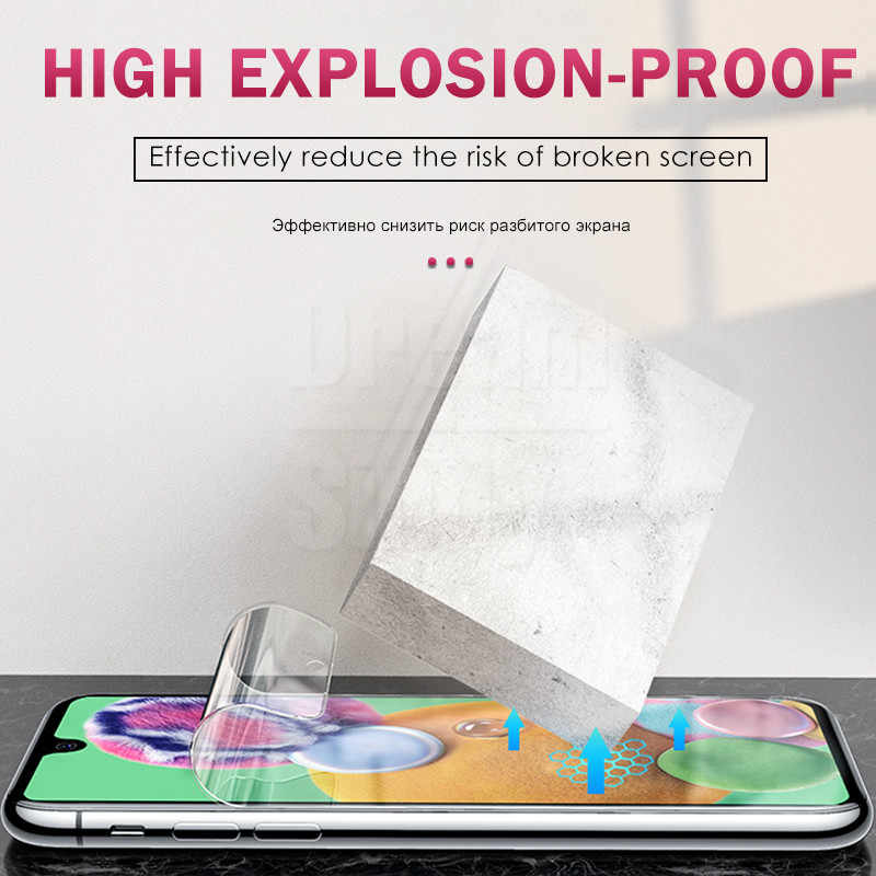 3-1 adet koruyucu 100D hidrojel Film Samsung Galaxy A10 A20 A30 40 A50 A60 A70 A7 A8 2018 M10 M20 ekran koruyucu cam değil