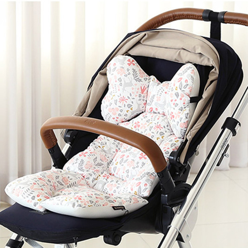 Baby Printed Stroller Pad Seat Warm Cushion Pad Mattresses Pillow Cover Child Carriage Cart Thicken Pad