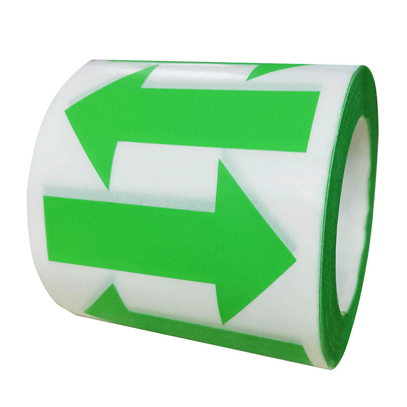 Green Arrow Fluorescent Sticker-Green Wallpaper Arrow Shape Color Coded Inventory Label 500 / Volume 2 Inch X 1.25 Inch (Green)