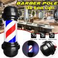 50 см СВЕТОДИОДНЫЙ знак парикмахерской осветительный столб красный белый синий полоса дизайн Roating салон настенная Подвесная лампа для салон...