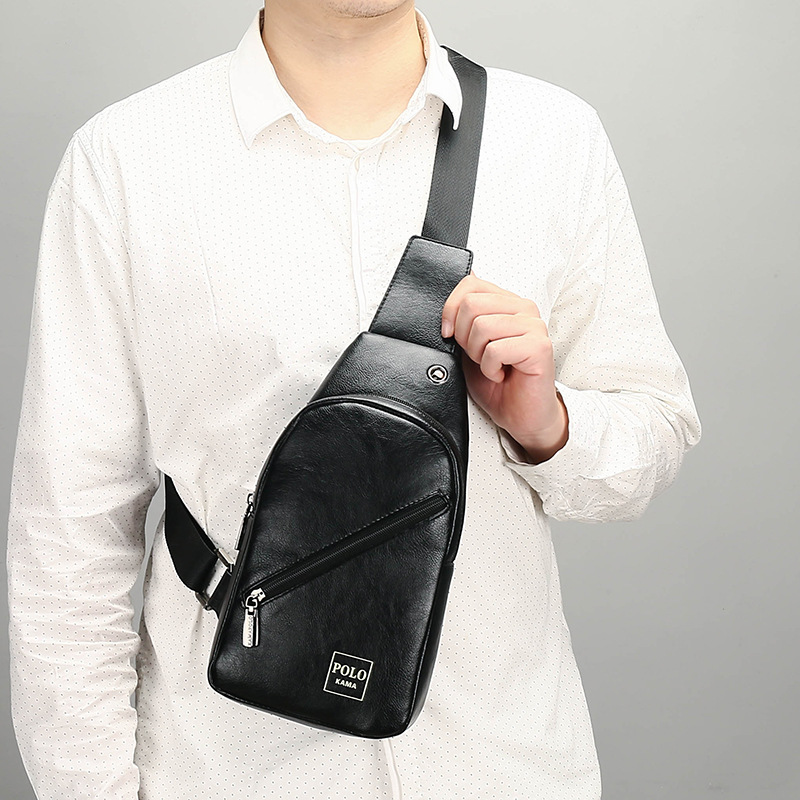 New Style Men Casual Chest Pack Riding Shoulder Bag High Quality Fabric Men's Bag Backpack Shoulder Bag