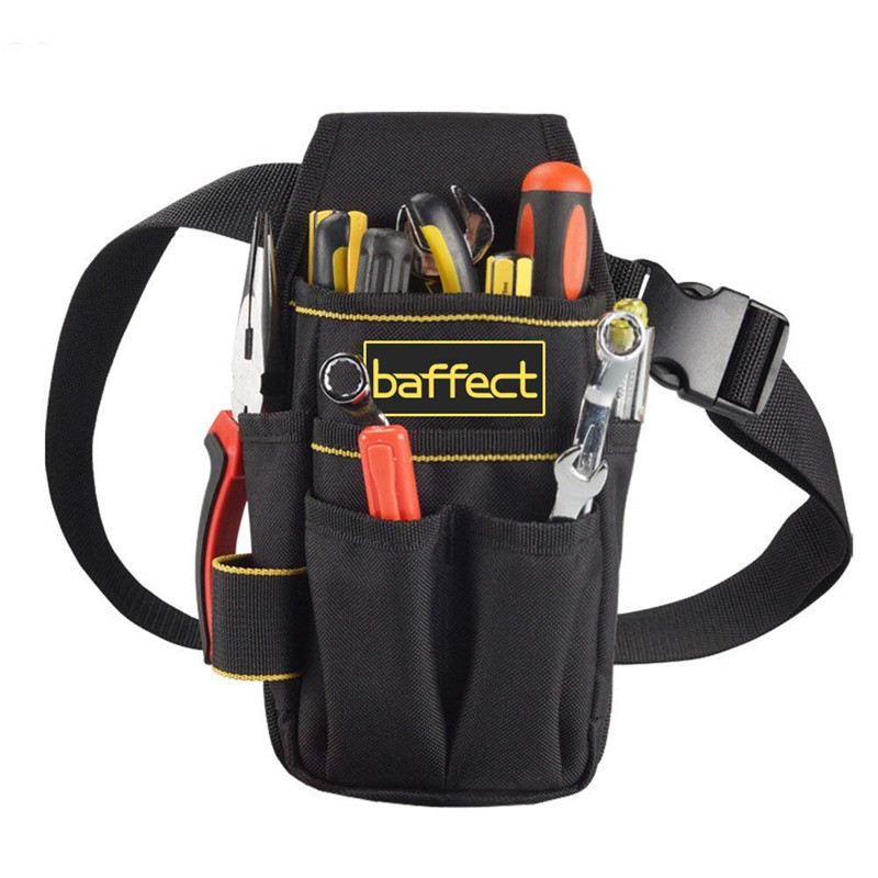 Baffect Tool Bag 600D Oxford Tool Belt for Electrician Technician Waist Pocket Pouch Small Tool Bag With Belt Screwdriver Holder