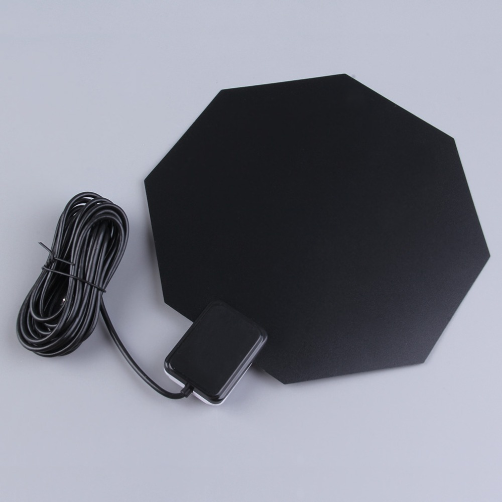 Indoor TV Antenna Long Range 470-860MHz Amplified HD 1080p Flat Home UHF Digital Analog TV Antenna For PC Notebook DTV HDTV