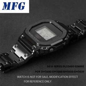 Image 4 - Metal saat kayışı çerçeve askısı DW5600 GWM5610 G 5600 kamuflaj paslanmaz çelik kordonlu saat çerçevesi bilezik aksesuarı RepairTool