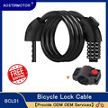 Aostirmotor バイクロック 5 桁のコードコンビネーション自転車ロック 1.25 メートル自転車セキュリティロック自転車機器 mtb 盗難防止ロック -