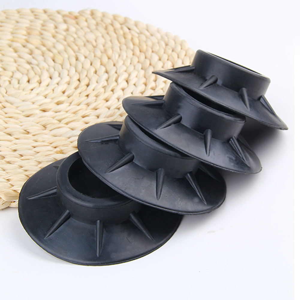 4Pcs Floor Mat Elasticity Black Protectors Furniture Anti Vibration Rubber Feet Pads Washing Machine Non Slip Shock Proof